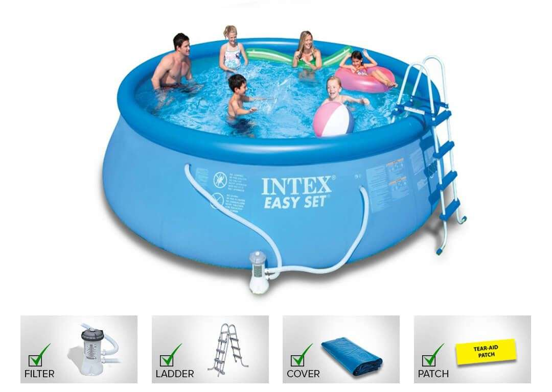 Jumpking buy online intex 15 feet pool 15i42a best swimming pool for Inflatable swimming pool buy online india